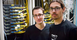 Antoine Guenet and Nicolas Piatto were the ones to upgrade OVH.com's network in the US.