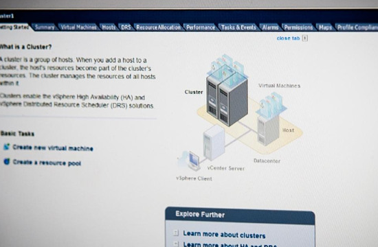 From its VMware interface, the client can easily manage each part of its datacenter.