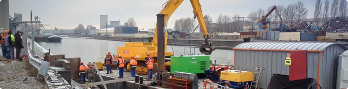 The trenching of fiber in Rhine waters is a costly operation.