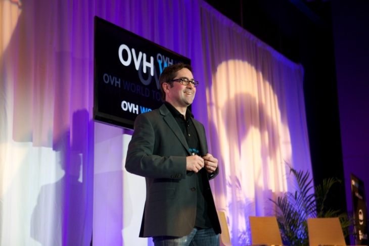 Germain Masse, OVH's COO based in Montreal, co-hosted the keynote session together with Jérôme Arnaud, Vice President of Operations, also based in Montreal.